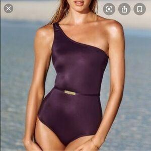 Victoria Secret Belted one shoulder swimsuit